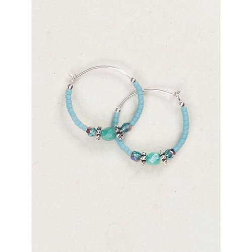Holly Yashi Turquoise Sonoma Hoop Earrings