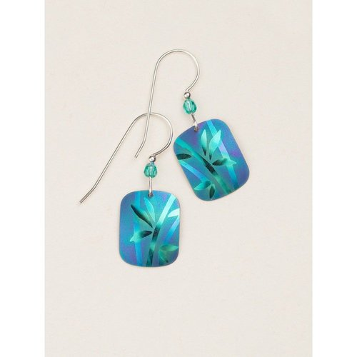 Holly Yashi Blue/Green Whisper Earrings
