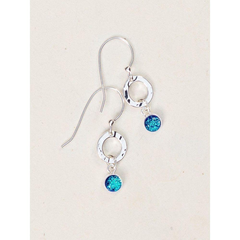 Holly Yashi Lagoon/Silver Bonita Earrings