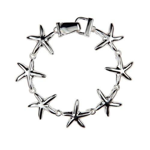 Silver Magnetic Starfish Bracelet
