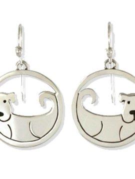 Dog Cutout Wire Earrings