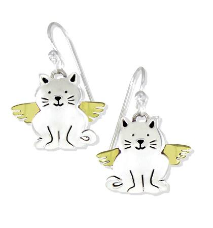 Angel Kitty Wire Earrings