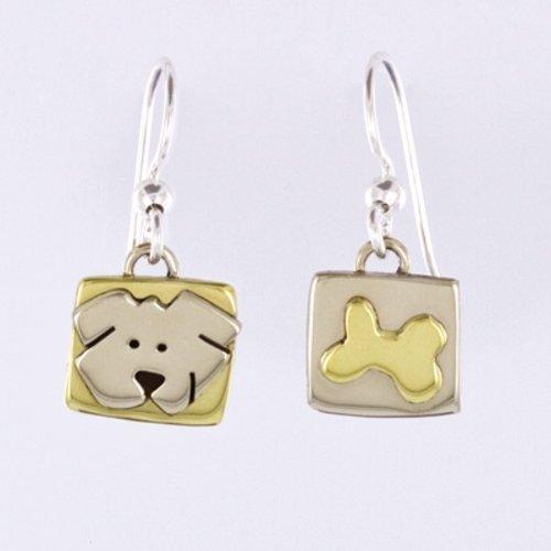 Bone & Pup Earrings