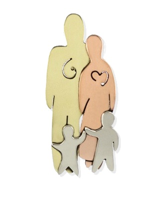 Far Fetched Loving Family Pin