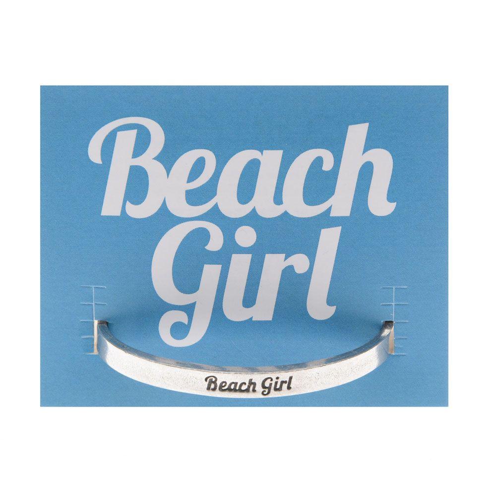 Beach Girl Pewter Bracelet