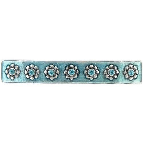 Baked Beads Enamel and Crystal Lotus Barrette