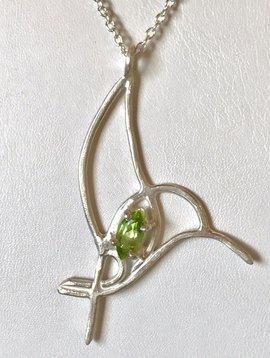 Tina Dinsmore Silver Hummingbird with Peridot