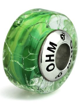 Ohm Beads Green Crack Limited Edition Bead