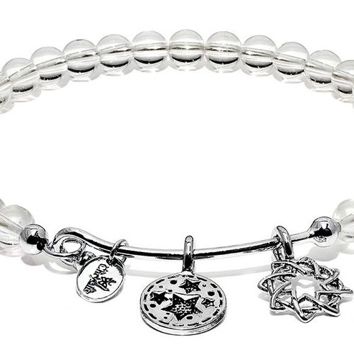 Chrysalis White Crystal Redemption Bangle