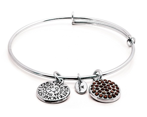 "Chrysalis ""Good Fortune"" January Garnet Bangle"
