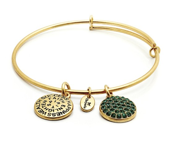 "Chrysalis ""Good Fortune"" May Emerald Bangle"