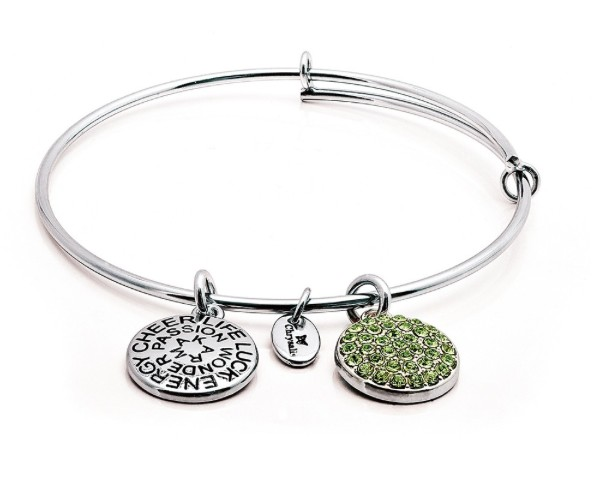 "Chrysalis ""Good Fortune"" August Peridot Bangle"