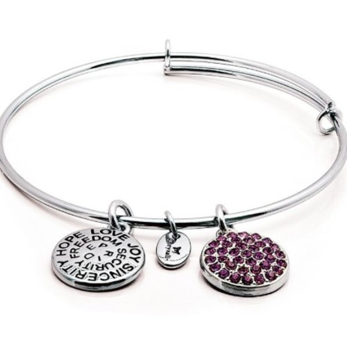 "Chrysalis ""Good Fortune"" February Amethyst Bangle"