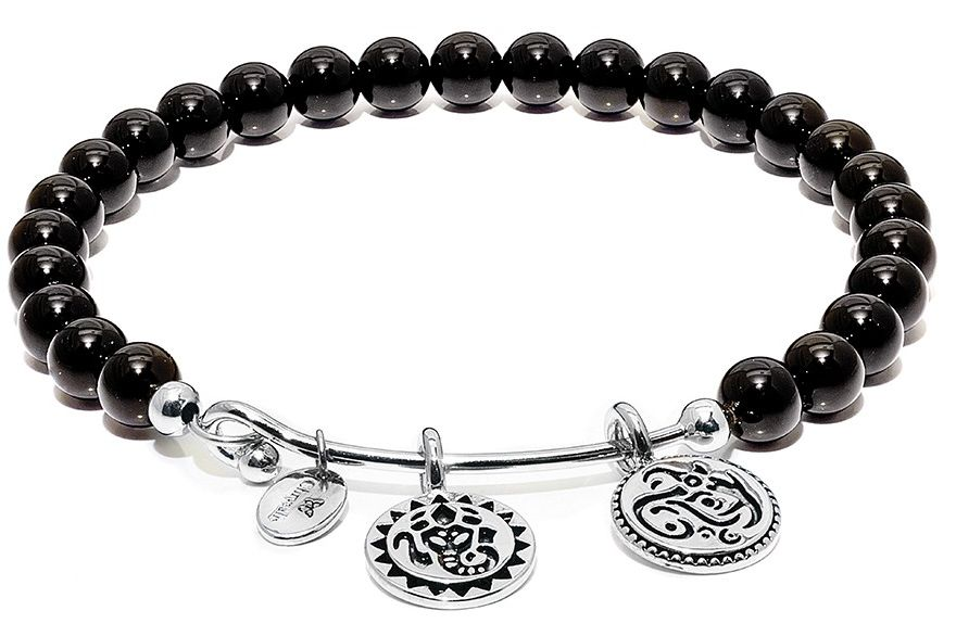 Chrysalis Lucky Ganesh Black Onyx Bangle