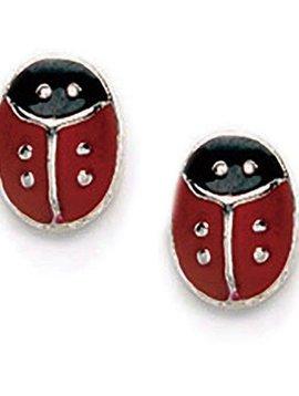 Ladybug Post Earrings