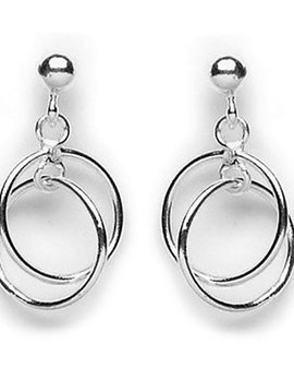 Geo Mobile Circles Hanging Post Earrings