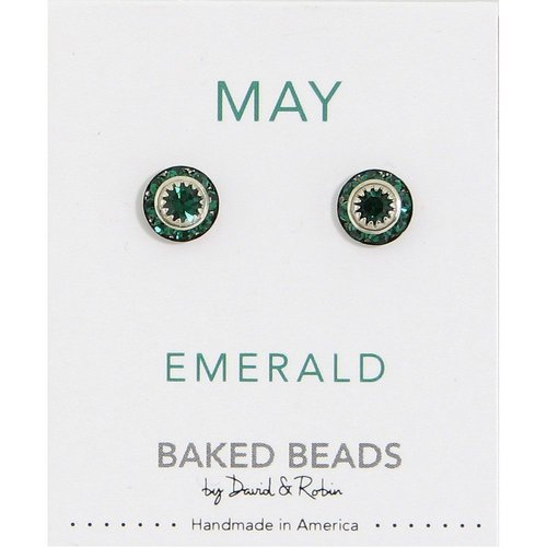 Baked Beads May Crystal Birthstone Post Earrings