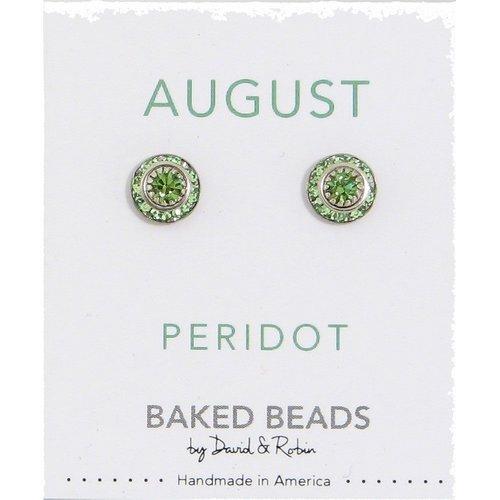 Baked Beads August Crystal Birhtstone Post Earrings