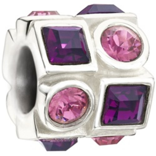 Chamilia Chamilia Crystal Circle & Square Pink & Purple