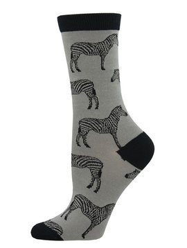 Socksmith Zebra Stamp Bamboo Socks