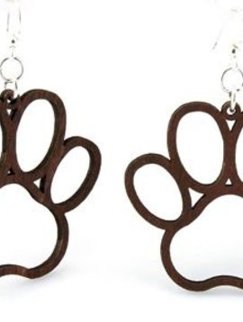 Green Tree Jewelry Doggie Paw Print Earrings