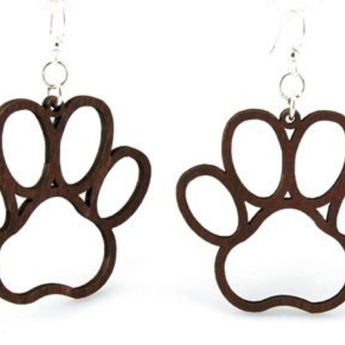 Green Tree Jewelry Doggie Paw Print Earrings