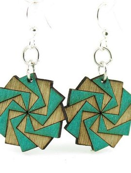 Green Tree Jewelry Twilight Zone Wood Earrings