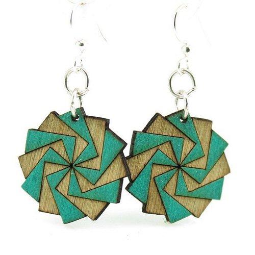 Green Tree Jewelry Twilight Zone Wood Earrings