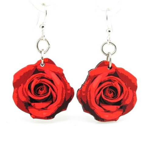 Green Tree Jewelry Rose Blossom Earrings