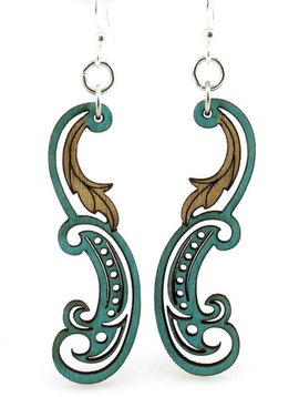 Green Tree Jewelry Paisley Leaf Earrings
