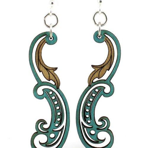 Green Tree Jewelry Paisley Leaf Earrings