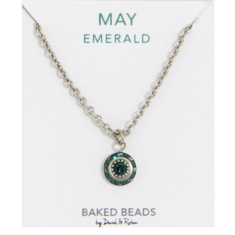 Baked Beads May Crystal Birthstone Necklace