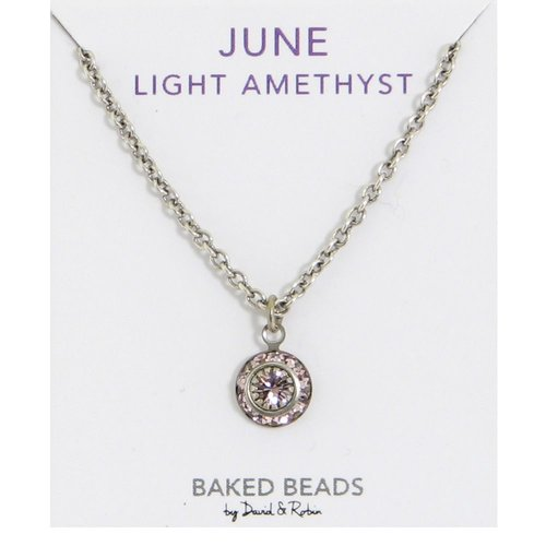 Baked Beads June Crystal Birthstone Necklace