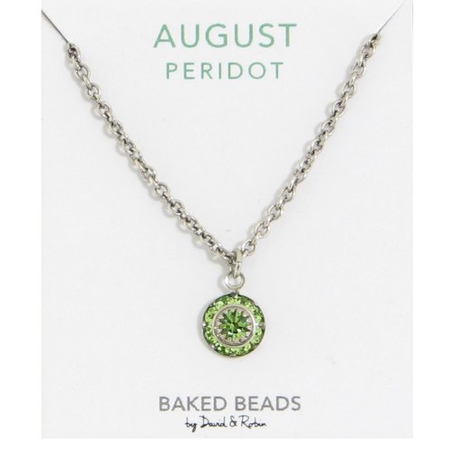 Baked Beads August Crystal Birthstone Necklace