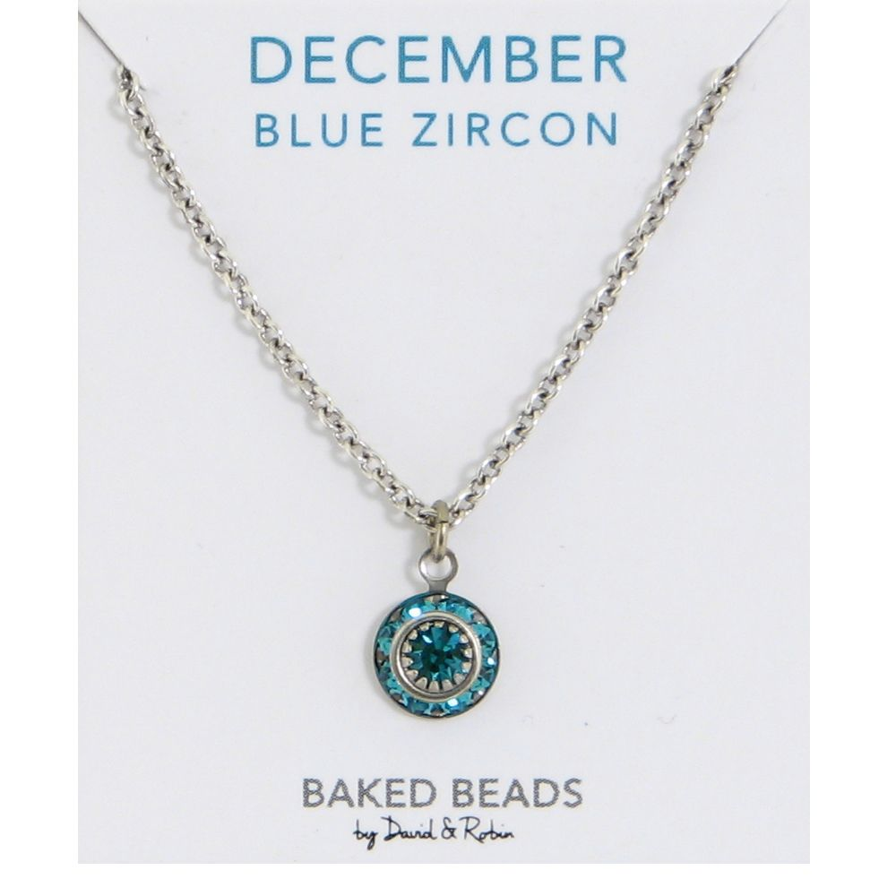Baked Beads December Crystal Birthstone Necklace