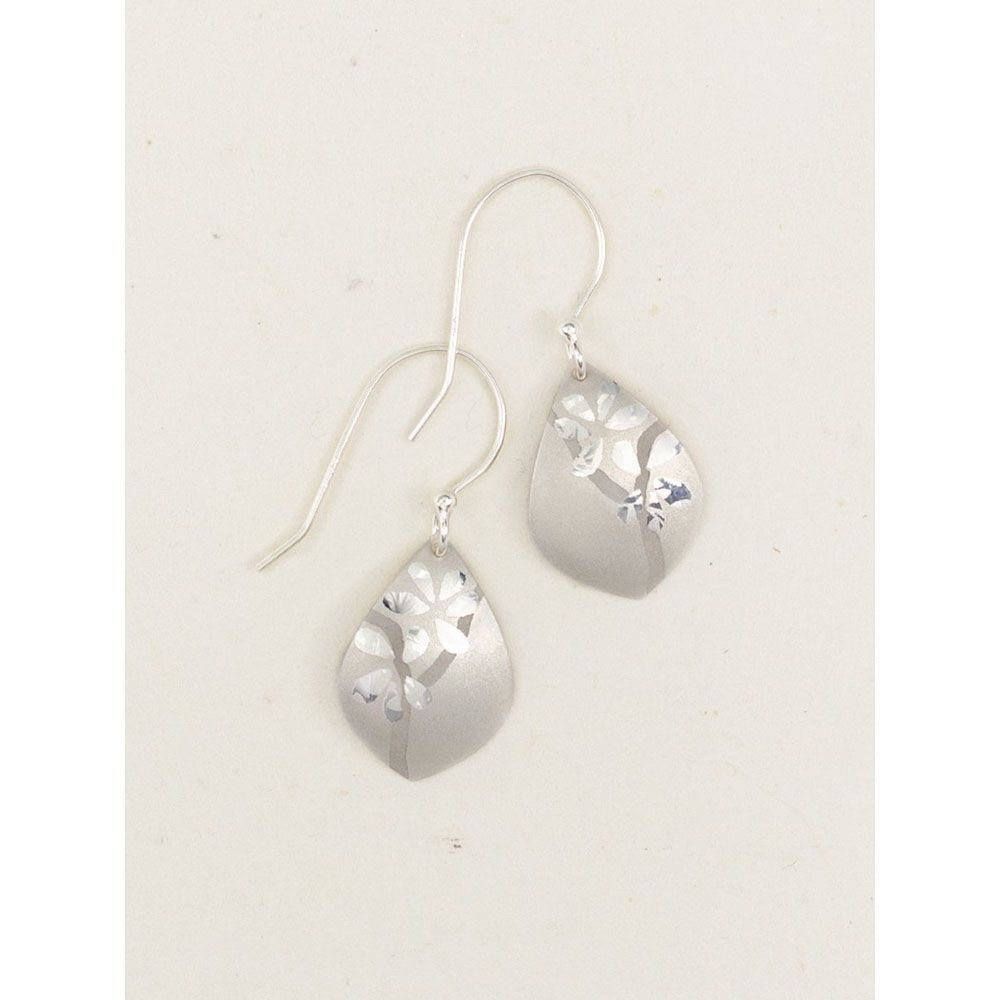Holly Yashi Silver Orchid Bloom Earrings