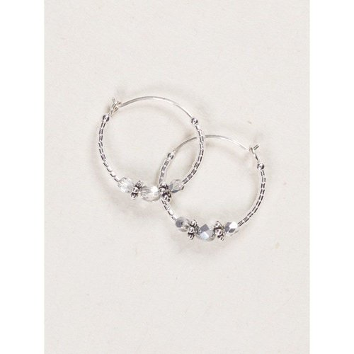 Holly Yashi Silver Sonoma Hoop Earrings