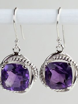 Esprit Creations Square Amethyst Earrings