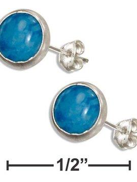 Denim Blue Post Earrings