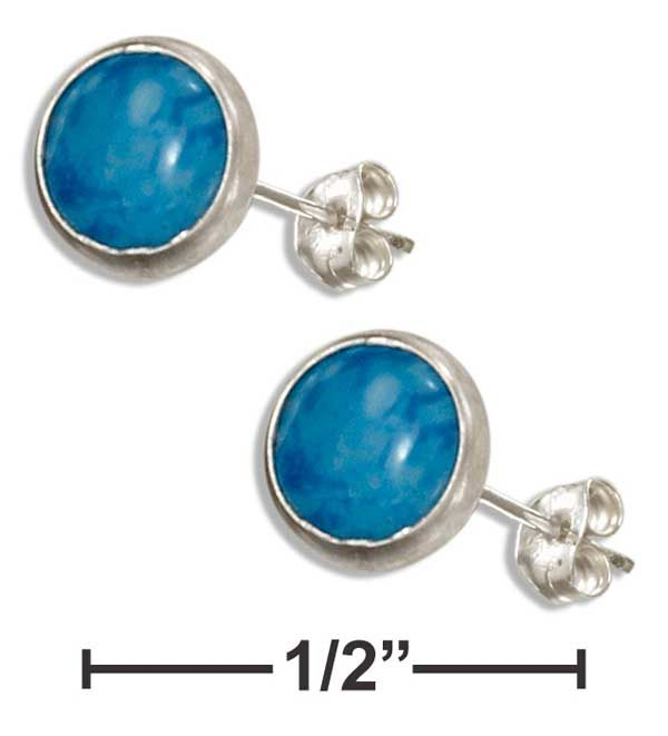 Plum Island Denim Blue Post Earrings