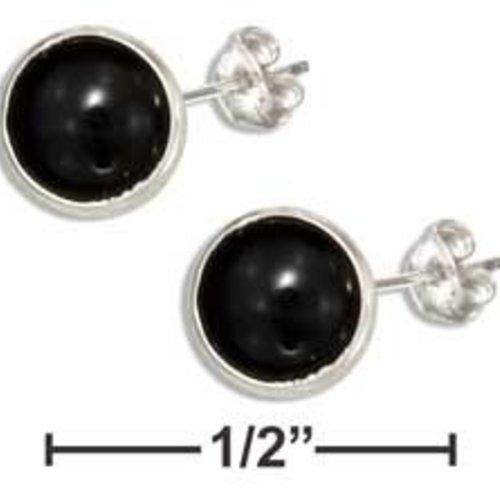 Mini Black Onyx Stud Earrings