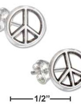 Plum Island Mini Peace Sign Post Earrings