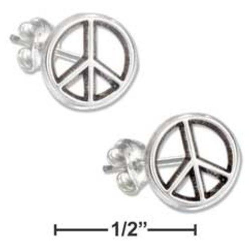 Mini Peace Sign Post Earrings