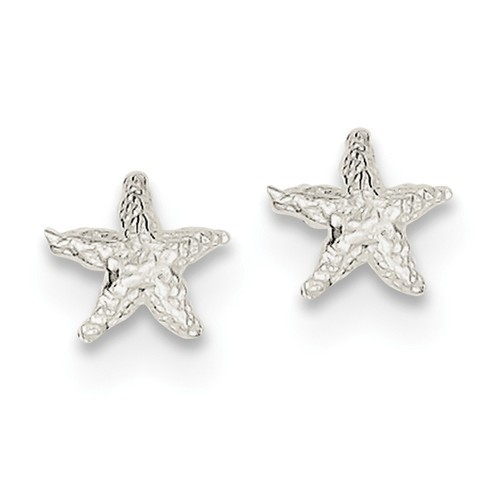 Quality Gold Mini Starfish Earrings