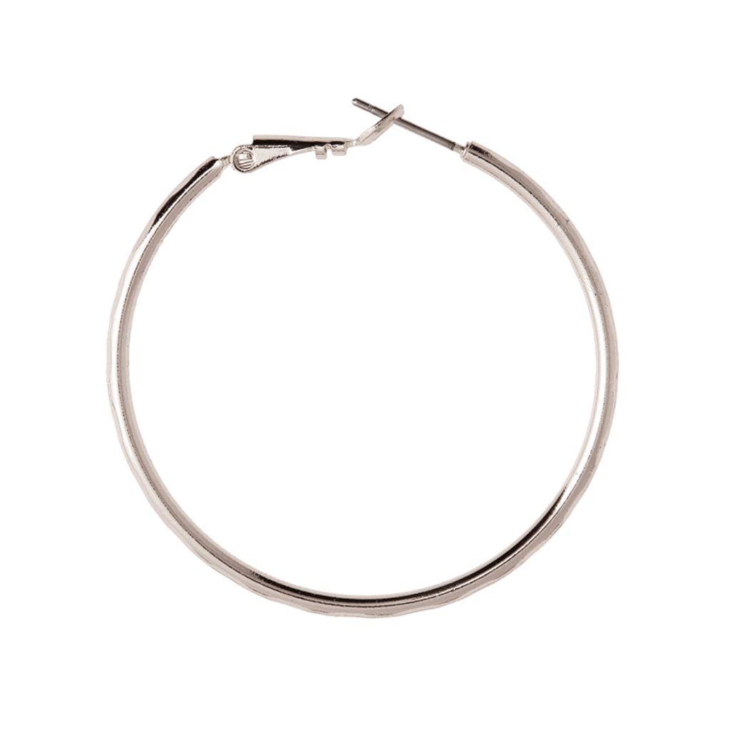 Rain Silver Hoop Earrings