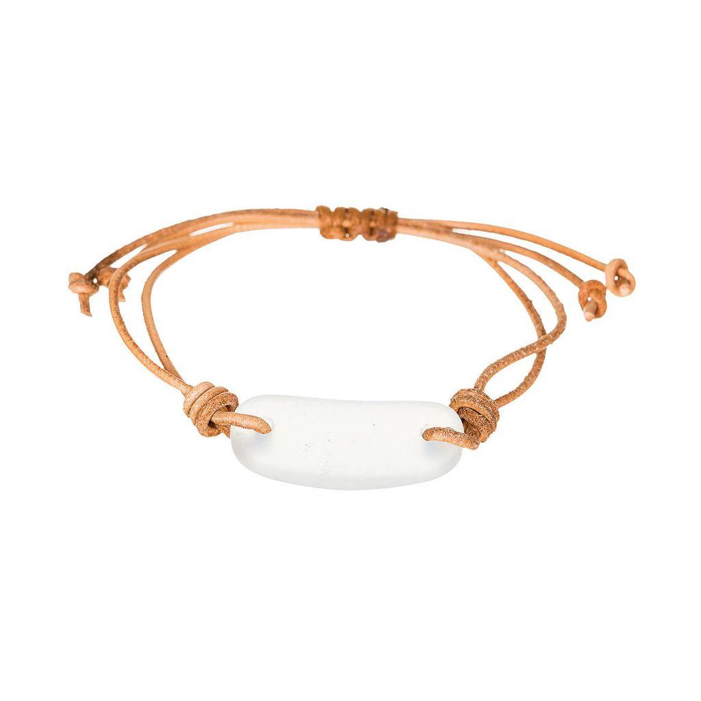 Rain White Seaglass Bracelet