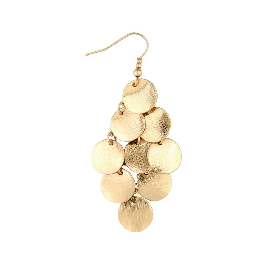 Rain Gold Chandelier Earrings