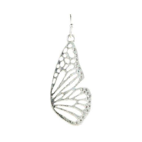 Silver Butterfly Wing Earrings