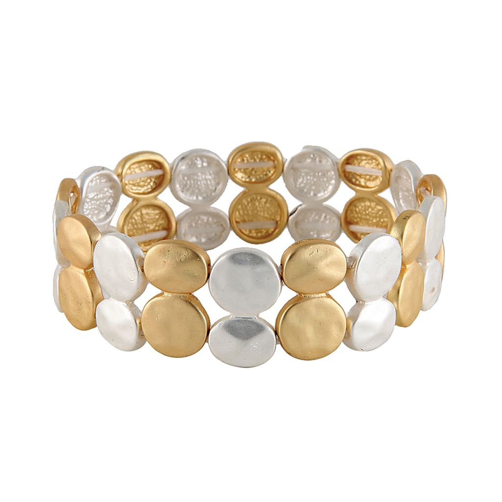 Rain Two Toned Stretch Bracelet