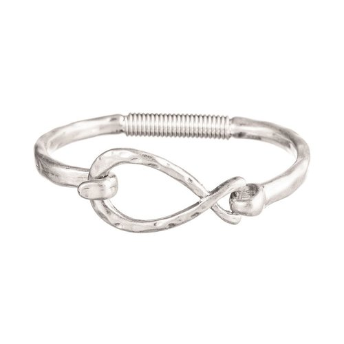 Rain Silver Spring Bracelet with Infinity Hook